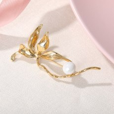 Tulip Shape Pearl Accessories  Brooch Pin