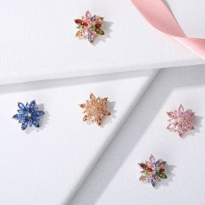 Flower Brooch To Propose Engagement Rhinestone Bouquets Dress Badge