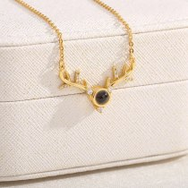 Elk Antlers A Deer Road Has You Simple Temperament Projection Necklace