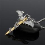 Luminous Jewelry Dragon Sword Pendant Necklace