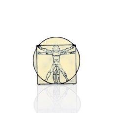 Da Vinci Uomo Vitruvian Enamel Brooches Pin