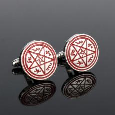 Supernatural Cufflinks Pentagram Pentacle Devil's Trap Rune Cuff