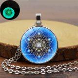 Luminous Round Archangel Metatron Cubes Necklace