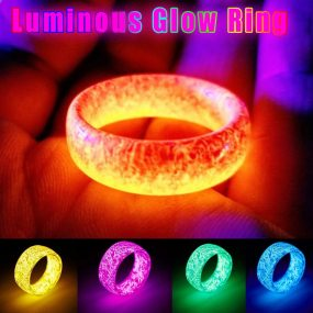 Luminous Glow Ring Glowing In The Dark Jewelry Unisex
