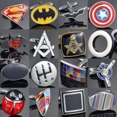 Superhero Cuff Links Super Hero Avengers Cufflinks Button