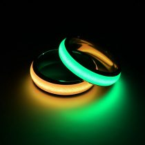 Blue Pink Glowing Luminous Rings Stainless Steel Jewelry