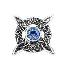 Norse Medieval Viking Blue crystal Brooch