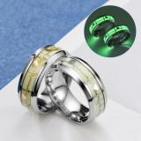 Heartbeat Luminous Rings Black Stainless Steel Ring