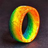 Luminous Cracked Ring Glow In The Dark Fashion Finger Rings