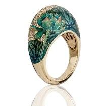 Lotus Leaves Opal Stone Ring