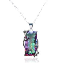 24 Inch Rainbow Choker Necklace