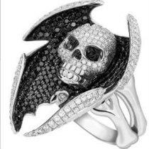 Vintage Silver Color Skull Ring