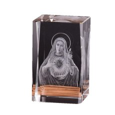 Virgin Mary 3D Laser Engraver Cube Crystal Glass