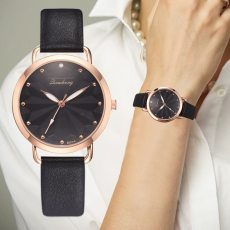 Leather Band Rhinestone Quartz Watches