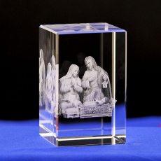Christian Catholic Jesus Portrait Crystal Glass