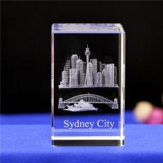 3D Sydney Opera Crystal Glass