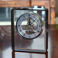 Mechanical Clock Crystal Glass