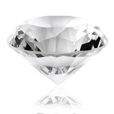 60mm/2.36inch Diamond Crystal Glass