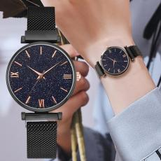 Mesh Magnet Buckle Starry Sky Quartz Watches