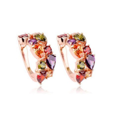 Colorful Crystal Zircon Earrings