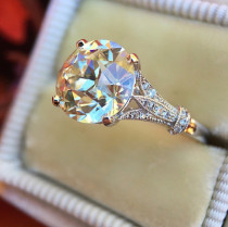 Crystal Zircon Ring