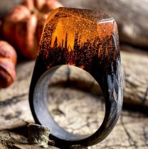 Time Ring Resin Wood Ring