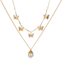 Butterfly Stereo Choker Multi Layer Necklaces