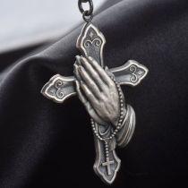 Hands Pray Cross Retro Necklaces