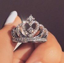 Crown Zircon Diamond Ring
