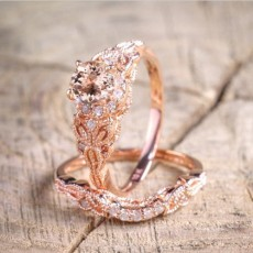 18k Rose Gold Micro Inlaid Zircon Ring