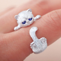 Silver Kitten's Paw Ring