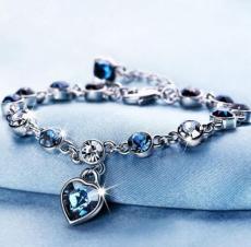 Ocean Heart Crystal Bracelet