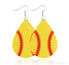 Balls Pattern Leather Earrings