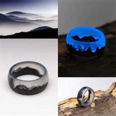 Resin Wood Luminous Secret Wood Ring
