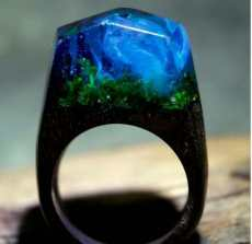 Magic Forest Wood Ring
