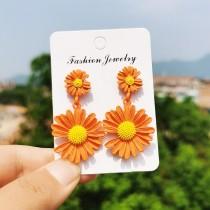 Silver Needle Chrysanthemum Earrings