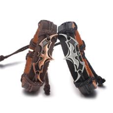 Punk Woven Bat Bracelet