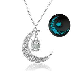 Moon Owl Luminous Necklace