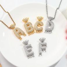 Letters Crown Hip Hop Necklace