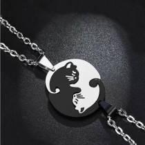 Matching Couple Cat Necklace