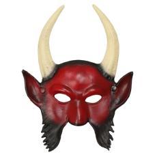 1Pc 3D Horned Devil Mask Cosplay Prop