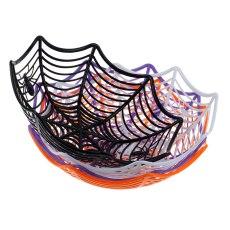 Halloween Candy Basket Spider Web