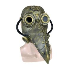 Plague Doctor Masks Pipe Latex Steam Halloween Props