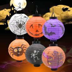 1Pcs Halloween Led Light Paper Lantern