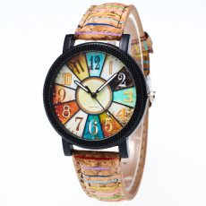 Harajuku Quartz Wristwatch Leather Strap