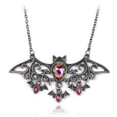 Bat Necklaces Halloween Creepy Dark Accessories Fit