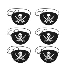 6Pcs Pirate Eye Patches Cosplay Props