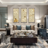 Chinese Classical Silk Flower And Bird Painting Office Decoration Painting
