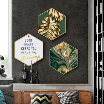 Simple Modern Hexagon Combination Nordic Hanging Painting