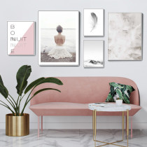 Creative Pink Combination Of Living Room Decoration Painting